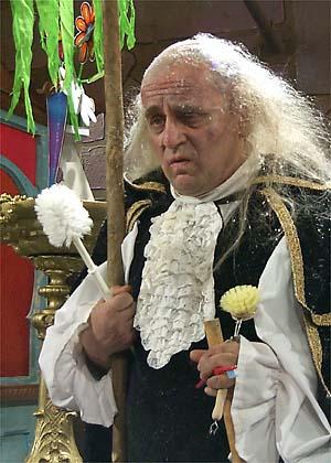 Sylvester McCoy, the Lord High Chamberlain.